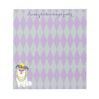 Mardi Gras Eskie Notepad