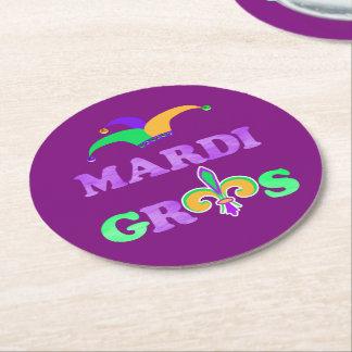 Mardi Gras Fat Tuesday 2018 Party Round Paper Coaster