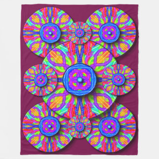Mardi Gras Fleece Blanket