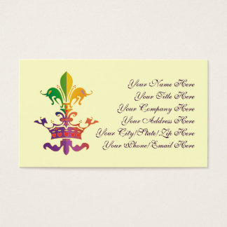 Mardi Gras Fleur de CROWN Business Card