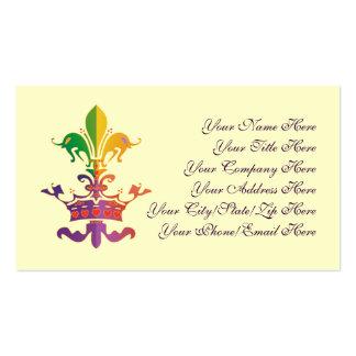 Mardi Gras Fleur de CROWN Business Cards