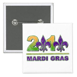 Mardi Gras Fleur-de-Lis 2010 Button