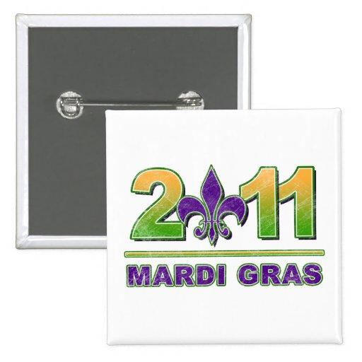 Mardi Gras Fleur-de-Lis 2011 Button
