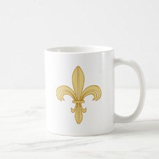 Mardi Gras Fleur De Lis Basic White Mug