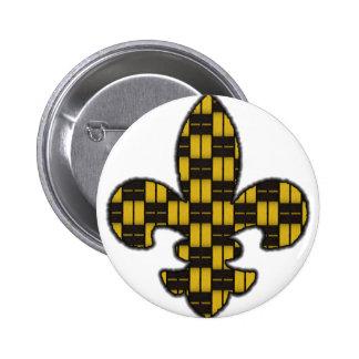 Mardi Gras Fleur De Lis Black Gold Pin