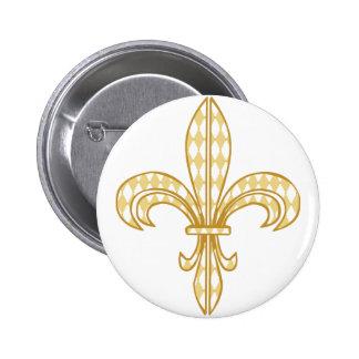 Mardi Gras Fleur De Lis Buttons