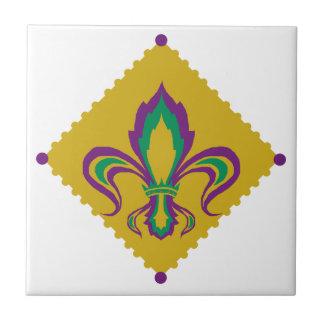 Mardi Gras Fleur De Lis Ceramic Tile
