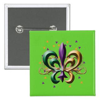 Mardi Gras Fleur de Lis Design Pins