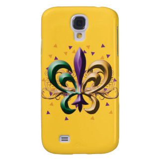 Mardi Gras Fleur de Lis Design Samsung Galaxy S4 Case