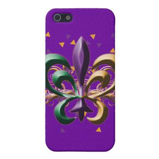 Mardi Gras Fleur de Lis Design iPhone 5 Covers