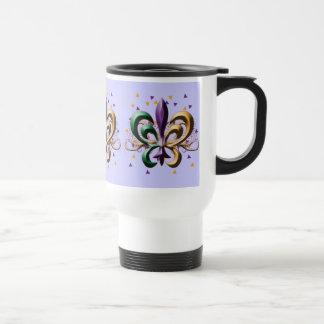 Mardi Gras Fleur de Lis Design Coffee Mug