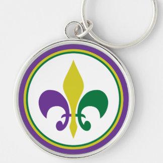 Mardi Gras ~ Fleur De Lis Key Ring