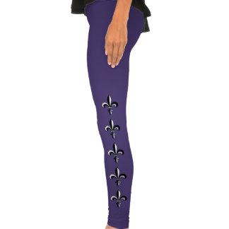 Mardi Gras Fleur De Lis Legging Tights