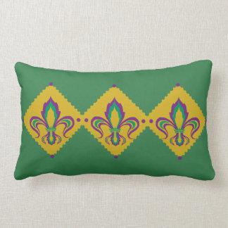 Mardi Gras Fleur De Lis Lumbar Cushion