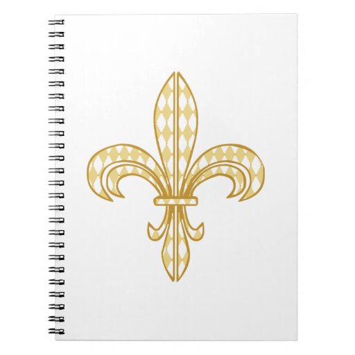 Mardi Gras Fleur De Lis Notebook
