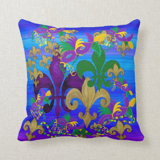 Mardi Gras Fleur de lis pillow