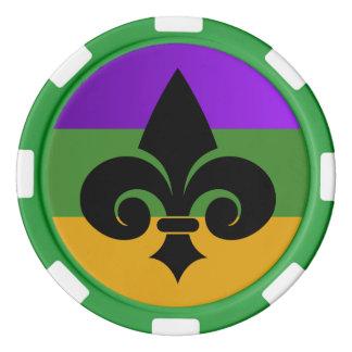 Mardi Gras Fleur De Lis Poker Chip