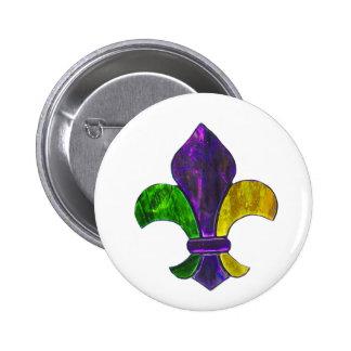 Mardi Gras Fleur De Lis Purple Green Yellow Pins