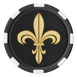 Mardi Gras Fleur De Lis Set Of Poker Chips