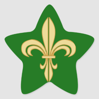 Mardi Gras Fleur De Lis Star Sticker