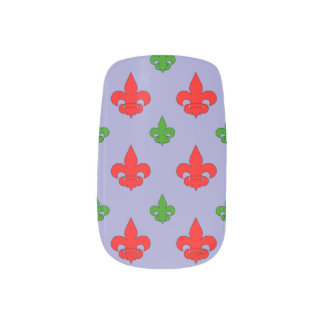 Mardi Gras Fleur de Lis Stick Ons Minx ® Nail Wraps