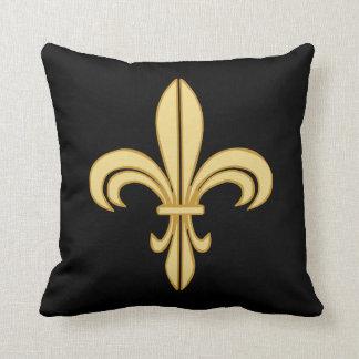 Mardi Gras Fleur De Lis Throw Cushion