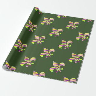 Mardi Gras Fleur De Lis Wrapping Paper