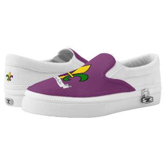 Mardi Gras fleur-de-lys Slip On Shoes