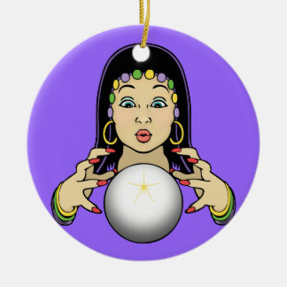 Mardi Gras Fortune Teller Ceramic Ornament