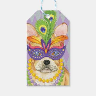 Mardi Gras Frenchie Gift Tags