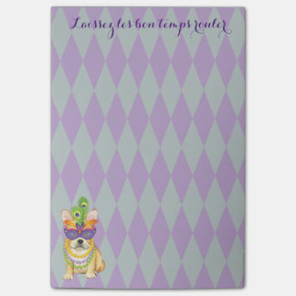 Mardi Gras Frenchie Post-it Notes
