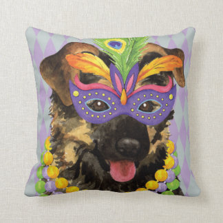 Mardi Gras German Shepherd Cushion