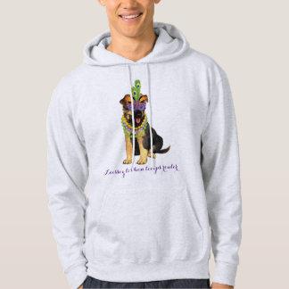 Mardi Gras German Shepherd Hoodie