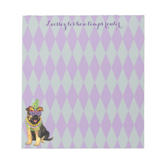 Mardi Gras German Shepherd Notepad