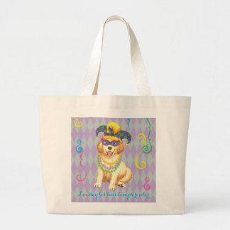Mardi Gras Golden Large Tote Bag