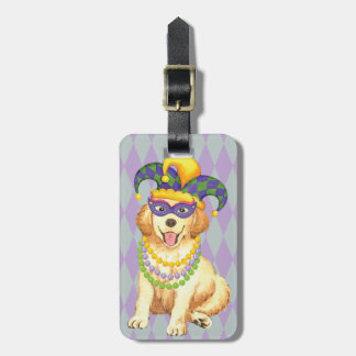 Mardi Gras Golden Luggage Tag