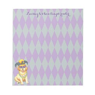 Mardi Gras Golden Notepad