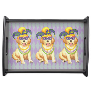 Mardi Gras Golden Serving Tray