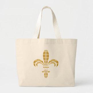 Mardi Gras Harlequin Fleur De Lis Bag