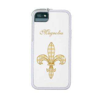 Mardi Gras Harlequin Fleur De Lis iPhone 5/5S Case