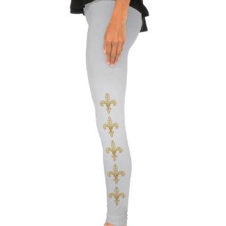 Mardi Gras Harlequin Fleur De Lis Legging