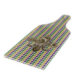 Mardi Gras Harlequin Pattern 2 with Fleur de Lis Cutting Board