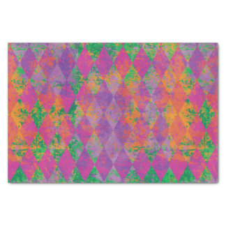 Mardi Gras Harlequin Pattern Tissue Paper