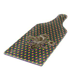 Mardi Gras Harlequin Pattern with Fleur de Lis Cutting Boards