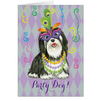 Mardi Gras Havanese Greeting Card