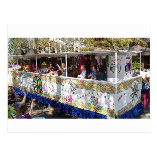 Mardi Gras Hippie Float Postcard