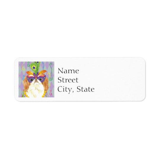 Mardi Gras Japanese Chin Return Address Label