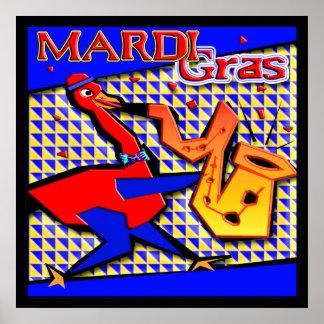 Mardi Gras Jazz Duck Print
