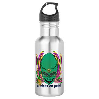 Mardi Gras Je viens en paix!!DarkText 532 Ml Water Bottle