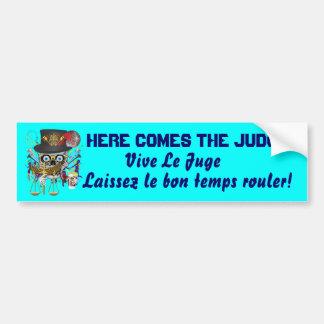 Mardi Gras Judge view notes Bumper Sticker